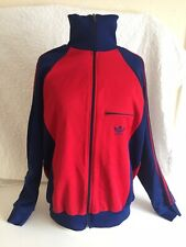 Mens Original Adidas Retro Track Suit Jacket Size M Blue And Red