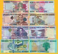 Sierra Leone Set 1000, 2000, 5000, 10000 Leones 2010-2015 UNC Banknotes