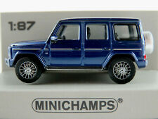 Minichamps 870 037401 Mercedes-Benz G 500 (2018) in blaumet. 1:87/H0 NEU/OVP
