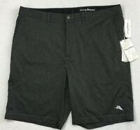 Men's TOMMY BAHAMA Gray Black Striped Amphibious Swim Trunks Shorts 38 NEW $99+