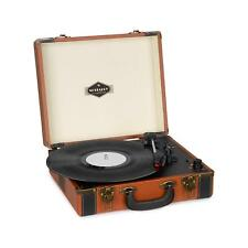 Giradischi Vintage Bluetooth Valigetta Lettore LP Stereo 33 45 USB Marrone