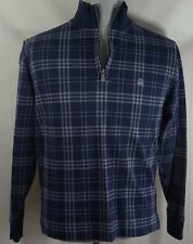 Brooks Brothers 346 Men's Fleece M Navy Blue Quarter Zip Sweater Shirt Designer