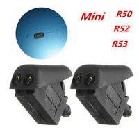 2x Front Washer Jets Spray Windscreen Water For BMW MINI R50 R52 R53 61667146377