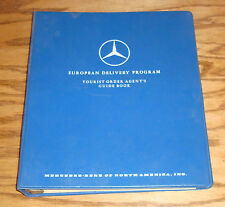1970s Mercedes Benz European Delivery Program Tourist Order Agent Guide Book