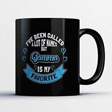 Gamma Coffee Mug - Gamma Is My Favorite - Adorable 11 oz Black Ceramic Tea Cup -