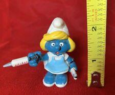 20139 Schtroumpfette Infirmière smurf Smurfs Schlümpfe © 1981 PEYO Made in Hong Kong