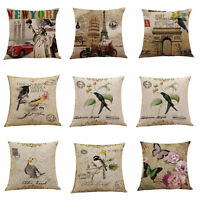 "18"" Vintage Linen Cotton Fashion Throw Pillow Case Cushion Cover Home Sofa Decor"