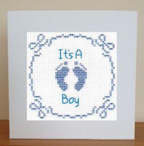 Baby Boy Card -  Cross Stitch Kit