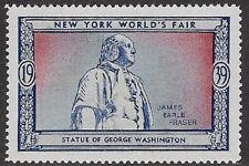 Usa Poster stamp:1939 New York World's Fair: George Washington Statue - dw433/40