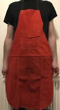 Premium RED Leather Welders / Welding / Carpenters / Gardeners Safety Apron