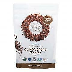 One Degree Organic Foods Quinoa Cacao Granola - Sprouted Oat - Case of 6 - 11 oz