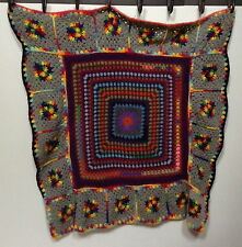 """Handmade Crochet Hippy/boho Psychedelic Wall Hanging/throw/table topper 46"""" x 46"""