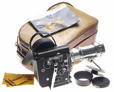 BOLEX H16 reflex film camera Som-Berthiot Pan-Cinor zoom lens hood case manual