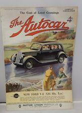 The Autocar Magazine November 22 1935 Vintage Automobile Ads New Ford V-8 Rare