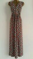 M&Co ANYA MADSEN Plus Size 16-30 Aztec Tribal Print Maxi Dress Red Black White