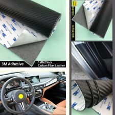 Waterproof Door Sill Cover Threshold Step Guard 120*50CM PU Carbon Fiber Style