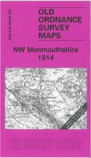 OLD ORDNANCE SURVEY MAP NW MONMOUTHSHIRE, ABERGAVENNY, BLAENAVON, TREDEGAR 1914