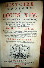 1717 History of the Reign of Louis XIV. 7V 49 Plates 1stEd in French. De Limiers
