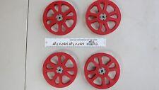4 Goldberg Brothers Vintage 16mm Red Plastic Film Reels