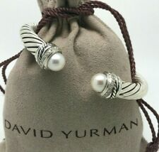 DAVID YURMAN 7mm Cable Classic Crossover Bracelet with Pearls and Diamonds