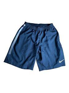 Nike Dri fit mens shorts black L drawstring elastic waist