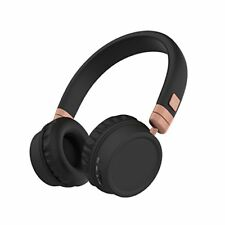 KitSound Harlem Wireless Bluetooth Over Ear Headphones With Mic Rose Gold