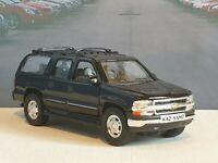 CHEVROLET SUBURBAN - BLACK PERSONALISED 5' DIECAST MODEL CAR GIFT NEW BOYS TOYS