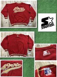 Vintage STARTER San Francisco 49ers Sweatshirt XLarge Men Stitched Football NFL