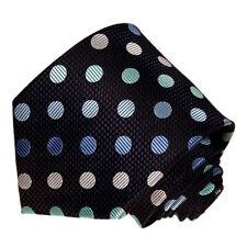 Men's Green Blue and Black Polka Dot Pattern Tie