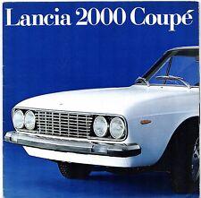 Lancia 2000 Coupe Carburettor 1971-75 UK Market Sales Brochure Flavia