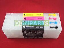 Reseteador de chip + 4x 300ml Cartucho de tinta recargables para Epson Stylus PRO 4450 Nuevo