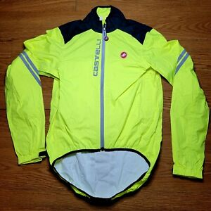 Castelli Cycling 3M High Viz Jacket Mens Sz Small (S) Neon Yellow/Green