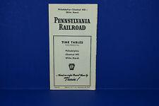 Pennsylvania Railroad Timetable 9/28/1947 Philly Chestnut Hill White Marsh 1st