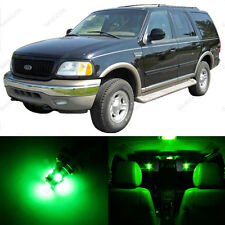 16 x Green LED Interior Light Package For 1997 - 2002 Ford Expedition + PRY TOOL