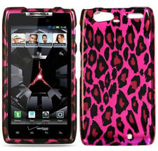 For Motorola Droid Razr Maxx Hard Case Snap On Phone Cover Hot Pink Leopard