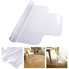 Office Desk Chair Mat for Hard Wood Floors Clear PVC Floor Mat Protector Lip 1.5