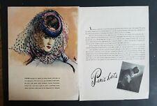 1939 Carl Erickson Eric vintage art women's Paris hats by Agnes ad