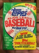 1990 Topps Baseball Wax Pack Fresh from Box!