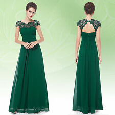 Lace Cap Sleeve Formal Maxi Dresses for Women