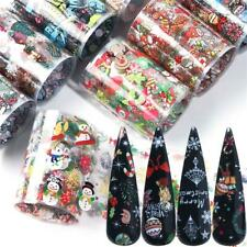 Christmas Stickers For Nails Holographic Nail Art Transfer Foils Snowman Gift UK