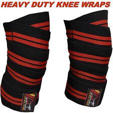 AUSTODEX HEAVY DUTY POWERLIFTING KNEE WRAPS BODYBUILDING/Weight lifting STRAPS