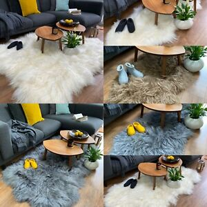 Exclusive Giant Genuine Natural Rare Icelandic Sheepskin Rug Pelt Soft Long Fur