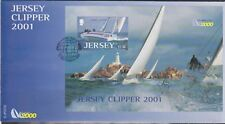 GB - JERSEY 2001 Times Clipper 2000 Round World Yacht Race SG MS1006 FDC SHIPS
