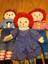 """Antique Vintage Handmade Raggedy Ann and Andy Doll Lot 20"""""""