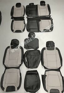 Ford F250 F350 XLT SuperCrew Leather Seat Covers LIMITED FACTORY STYLE 2017-2020