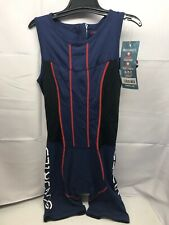 Sundried Triathlon Tri Suit Womens Performance Compression Tri Suit Medium Blue