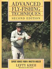 KREH LEFTY ANGLING BOOK ADVANCED FLY FISHING TECHNIQUES FRESH & SALTWATER brgain