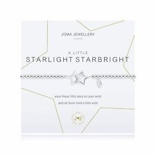 Joma Jewellery A Little STARLIGHT STARBRIGHT Silver Plated Beaded Bracelet Gift