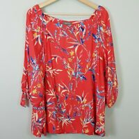 [ SUSSAN ] Womens Off shoulder Print Blouse Top  | Size AU 16 or US 12