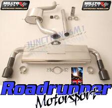 "Milltek SSXVW226 Golf GTI MK7 Exhaust 3"" Cat Back Resonated Rear Black Tips EC"